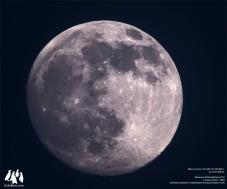 Moon through 90mm refractor