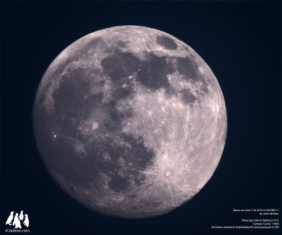Moon through 90mm refractor