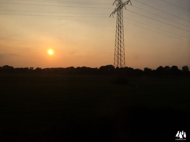 Setting sun shot with an iPhone from a train moving at 140kph.