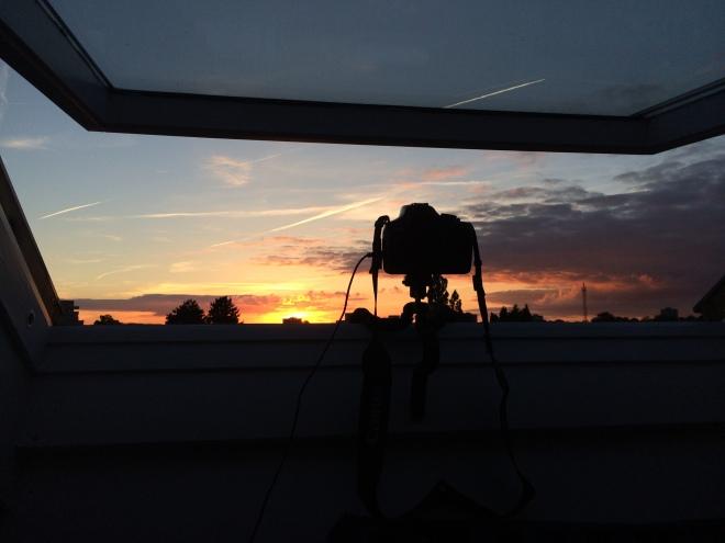 DSLR recording the sunset