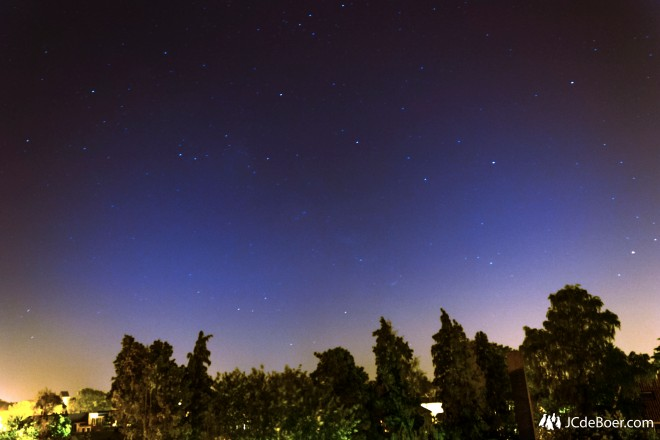 Very, very faint milky way over Enschede