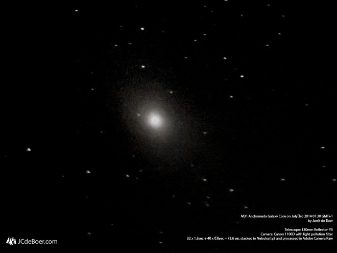 Bright core of the Andromeda Galaxy