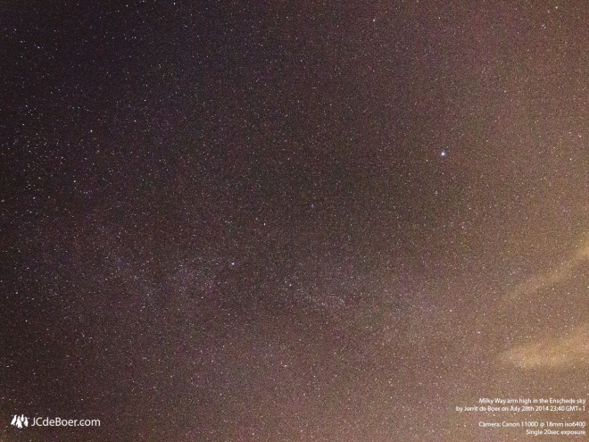 Milky Way arm high in the enschede sky
