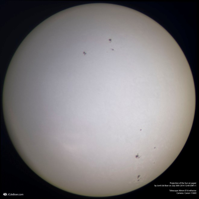 True color image of the Sun (as shot)