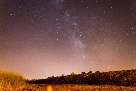 The milky way over Sao Miguel