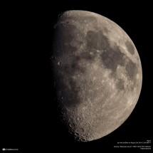 Single exposure of the moon