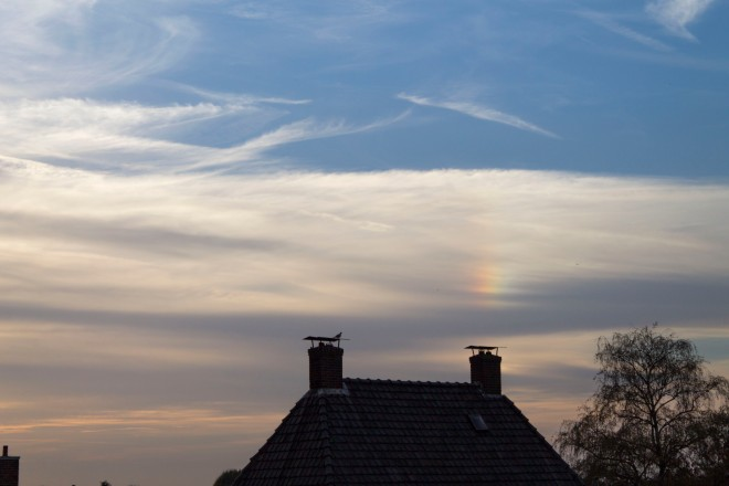 Sun dog due to icy skies