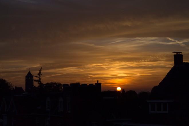 Sunset over Enschede