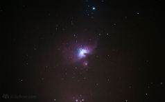 M42; Great Nebula in Orion. A stack of 16 10sec frames at iso 6400