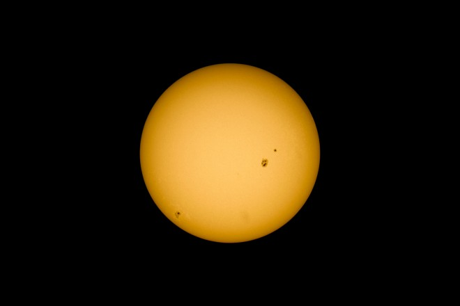 40 frame stack of the Sun at 12.00 GMT+1, as seen from Enschede