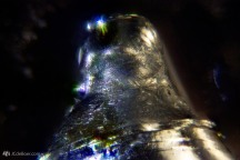 Small crystallized droplet of pure gallium.