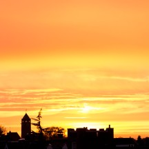 Golden evening skies over Enschede